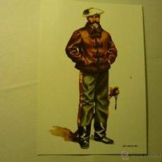 Postales: POSTAL MILITAR ESPAÑA 1833.1868-GENERAL CARLISTA TRAJE CAMPAÑA. Lote 45733211