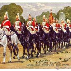 Postales: POSTAL THE LIFE GUARDS LONDRES. MILITAR CABALLERIA CIRCULADA 1934. Lote 45862920