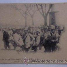 Postales: POSTAL EN EL ESCORIAL, EMBARQUE - ACADEMIA DE INFANTERIA GABINETE FOTOGRAFICO 1910. Lote 46079060