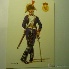 Postales: POSTAL MILITAR SOLDADO CABALLERIA -RGTO REY 1804- DIBUJO SALAS. Lote 46179919
