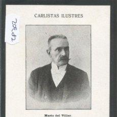 Postales: POSTAL CARLISMO - CARLISTAS ILUSTRES - REVERSO SIN DIVIDIR - (28302). Lote 47121559