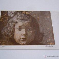 Postales: POSTAL ANTIGUA PRO PATRIA SOCORRO A LAS VICTIMAS DEL RIF. CIRCULO ARTISTICO BARCELONA. Lote 47325427
