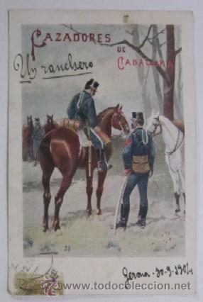 Postales: DOS ANTIGUAS POSTALES CAZADORES DE CABALLERIA - EDITORIAL CALLEJA PRINCIPIOS DE XX - Foto 2 - 47334664