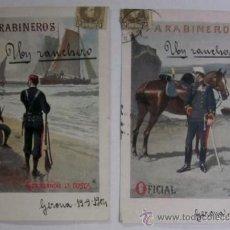 Postales: DOS ANTIGUAS POSTALES CUERPO DE CARABINEROS - EDITORIAL CALLEJA PRINCIPIOS DE XX. Lote 47334688