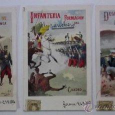 Postales: TRES ANTIGUAS POSTALES CUERPO DE INFANTERIA - EDITORIAL CALLEJA PRINCIPIOS DE XX. Lote 47334944