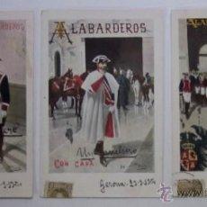 Postales: TRES ANTIGUAS POSTALES CUERPO DE ALABARDEROS - EDITORIAL CALLEJA PRINCIPIOS DE XX. Lote 47335033