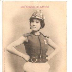 Postales: MUY BUSCADA Y ESCASA CARTE POSTALE LIES FEMMES DE I AVENIR 4- POMPIER. S/C. Lote 47381913