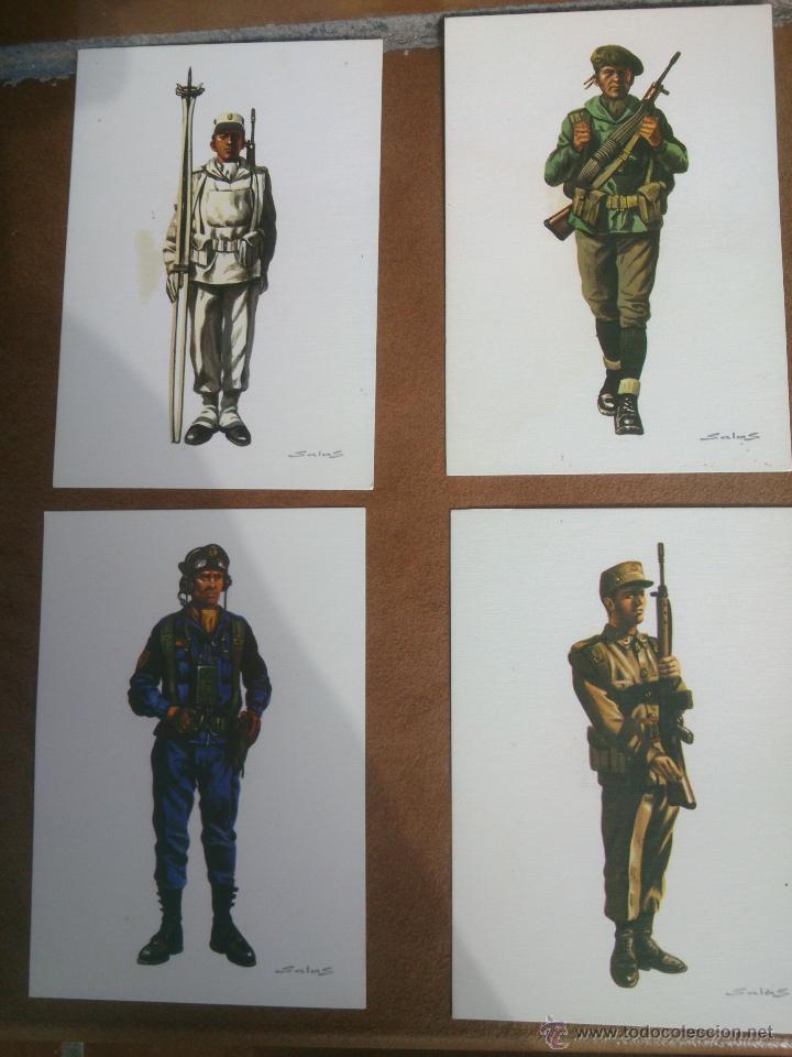 POSTALES,MONTAÑA,REGULARES,CARROS,ESQUIADORES. DE DELFIN SALAS (Postales - Postales Temáticas - Militares)