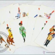 Postales: COLECCIÓN DE 12 POSTALES CON ILUSTRACIONES DE MILITARES / SOLDADOS DEL SIGLO XIX - ILUS. LIESA. Lote 47834539