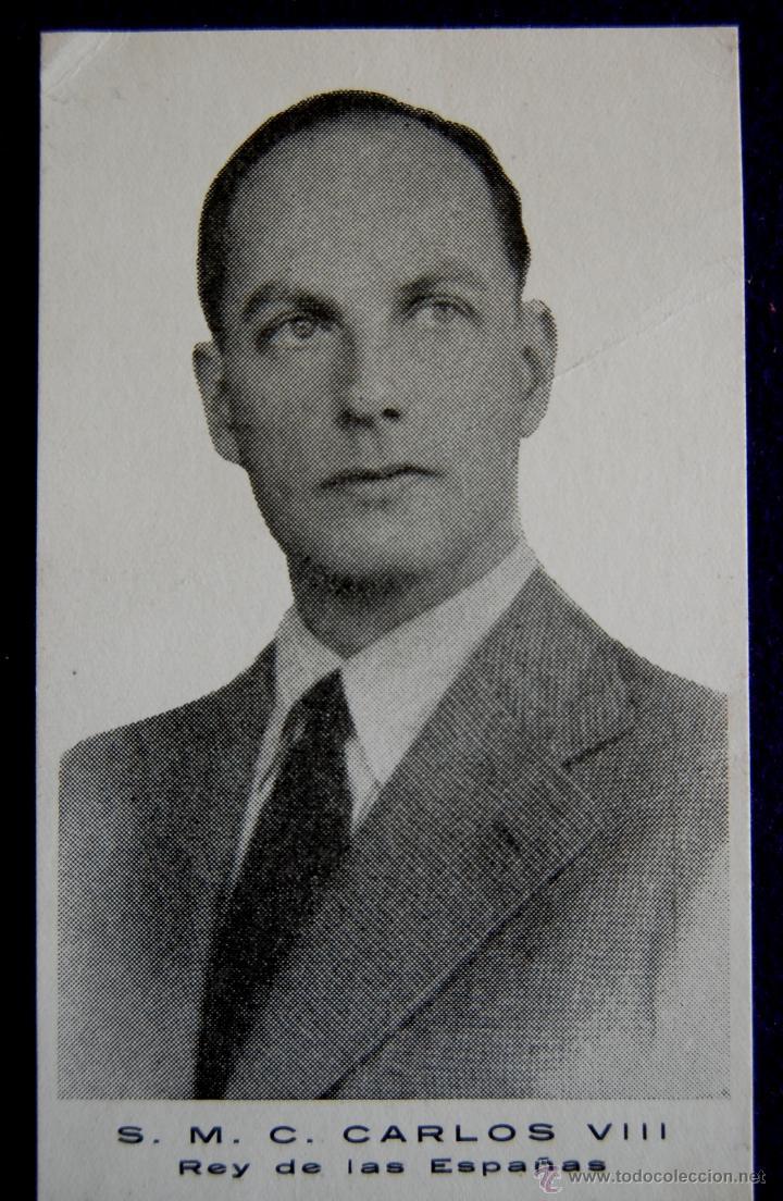 FOTO IMPRESA TAMAÑO POSTAL S.M.C CARLOS VIII REY DE LAS ESPAÑAS. AÑOS 40. (Postales - Postales Temáticas - Militares)