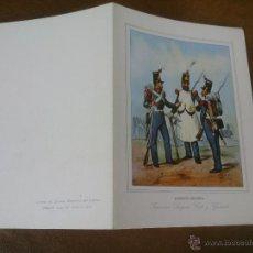 Postales: POSTAL DOBLE. EJERCITO ESPAÑOL. INGENIERO SARGENTO CABO Y GASTADORES. . Lote 48405471