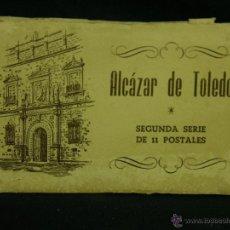 Postales: ALCÁZAR DE TOLEDO SEGUNDA SERIE DE 11 POSTALES ENTERRAMIENTOS DESPACHO MOSCARDÓ CEMENTERIO 9,5X15CMS. Lote 49023756