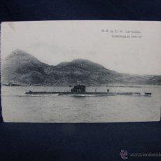 Postales: POSTAL S. E. DE C. N. CARTAGENA SUMERGIBLES TIPO B HAUSER Y MENET NO CIRCULADA. Lote 49113221