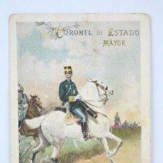 Postales: POSTAL ILUSTRADA - CORONEL DE ESTADO MAYOR. Nº 204 / 4 - ED. CALLEJA - CIRCULADA / SIN DIVIDIR. Lote 49302015
