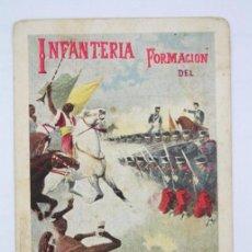 Postales: POSTAL ILUSTRADA - INFANTERÍA. FORMACIÓN DEL CUADRO. Nº 225 - ED. CALLEJA - SIN DIVIDIR, 1904. Lote 49559016