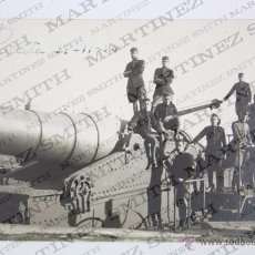 Postales: ANTIGUA POSTAL FOTOGRÁFICA - CEUTA, 1924. MILITARES JUNTO A CAÑÓN EN EL MIRADOR BATERÍA DEL PINTOR. Lote 49569492
