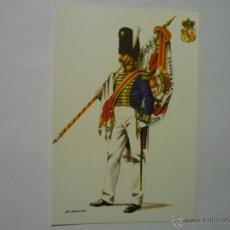 Postales: POSTAL ALABARDERO RGTO.GRANADEROS GUARDIA PROV.1825 ESPAÑA. Lote 50209569