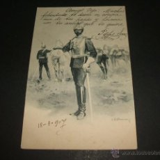 Postales: POSTAL ILUSTRADA MILITAR ESPAÑOL COLECCION THOMAS MADRID REVERSO SIN DIVIDIR. Lote 50337085
