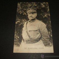 Postales: POSTAL MILITAR FRANCES MARISCAL FOCH. Lote 50447757