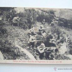 Postales: POSTAL CAMPO DE CEUTA. GUERRILLA DEL REGIMIENTO DEL SERRALLO NÚM. 69. ED. ANTONIO BUTRON. CIRCULADA.. Lote 50475101