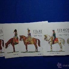 Postales: 23 POSTALES MILITARES DE LOS HEROES DEL 1º IMPERIO FRANCES. Lote 50641541
