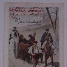 Postales: ANTIGUA POSTAL: PAREJA MONTADA, GUARDIA CIVIL. Lote 51598562