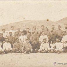 Postales: POSTAL DE MILITARES EN MELILLA.4/FEBRERO/1913.. Lote 52417953