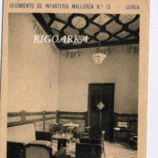 Postales: LORCA (MURCIA).- REGIMIENTO DE INFANTERÍA MALLORCA Nº 3- UN DETALLE DE LA SALA DE BANDERAS. Lote 52569593