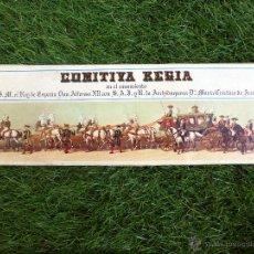 Postales: COMITIVA REGIA EN EL CASAMIENTO DE S.M. EL REY DE ESPAÑA DON ALFONSO XII. Lote 52753750
