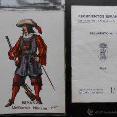 Postales: LOTE 18 POSTALES / POSTAL NUEVAS UNIFORMES MILITARES 1ª SERIE COMPLETA SIN CIRCULAR AÑOS 60. Lote 53285270