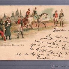 Postales: TARJETA POSTAL DEL EJERCITO ESPAÑOL. KUNZLI FRERES. Nº 656. SELLO DEL PELON. VER DORSO. Lote 53609529