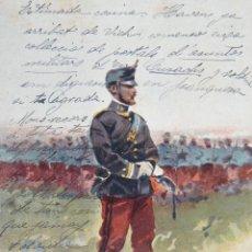 Postales: POSTAL SOLDADO ILUSTRADA POR J CUSACHS - J THOMAS, BARCELONA - 1902 CIRCULADA. Lote 53812090