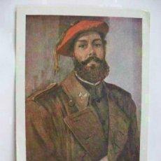 Postales: DON ENRIQUE BARRAU DE CORONEL DE CABALLERIA REQUETE. DIOS, PATRIA, REY. CARLISMO . SEVILLA , 1961. Lote 94200373