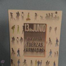 Postales: COLECCIÓN 9 POSTALES MILITARES, 13 DE JUNIO DÍA DE LAS FAS, 1987 EDICIÓN DE 1500 EJEMPLARES.. Lote 54183065