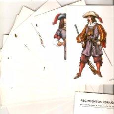 Postales: REGIMIENTOS ESPAÑOLES. 18 POSTALES + FOLLETO. REGIMIENTO Nº 1 DEL REY. Lote 54452872