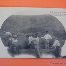 Postales: ANTIGUA POSTAL- CAMPAMENTO DE ALIJARES (TOLEDO) - CONSTRUCCION ABRIGO PARA AMETRALLADORAS.. R- 1719. Lote 35487205