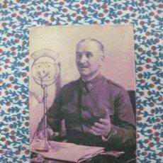 Postales: POSTAL GENERAL QUEIPO DE LLANO POR JALON ANGEL.. Lote 55027845