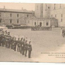 Postales: ACADEMIA DE INFANTERÍA CURSO 1913 - 14. DESFILE ANTE S. M. LA REINA.. Lote 55356562