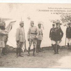 Postales: ACADEMIA DE INFANTERÍA CURSO 1913 - 14. S. M. EL REY EN EL CAMPAMENTO.. Lote 55370354