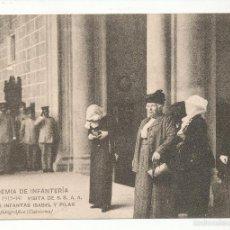 Postales: ACADEMIA DE INFANTERÍA CURSO 1913 - 14. VISITA DE S.S. A. A. LAS INFANTAS ISABEL Y PILAR.. Lote 55370467