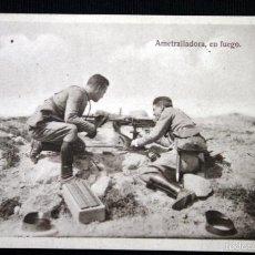 Postales: AMETRALLADORA, EN FUEGO - POSTAL - FOTOGRAFICA - CIRCA 1925 - HELIOTIPIA ARTISTICA ESPAÑOLA SIN CIRC. Lote 55565444