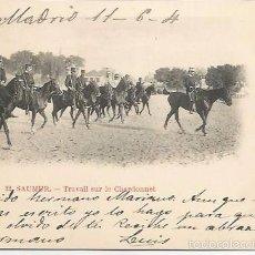 Postales: LOTE 4 POSTALES SAUMUR FRANCIA MILITARES A CABALLO 1904 CIRCULADAS. Lote 56192531