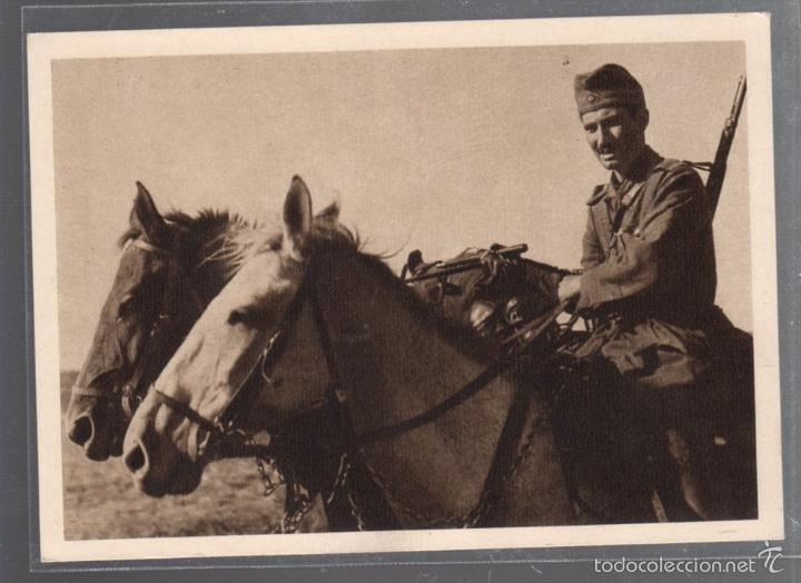TARJETA POSTAL DE SOLDADOS ALEMANES. EN MARCHA HACIA EL FRENTE. 2º GUERRA MUNDIAL (Postales - Postales Temáticas - Militares)