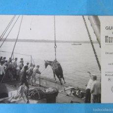 Postales: TARJETA POSTAL GUERRA DE MARRUECOS 1914 DESEMBARCO DE CABALLOS, CICULADA - FOTO ALONSO. Lote 56976058