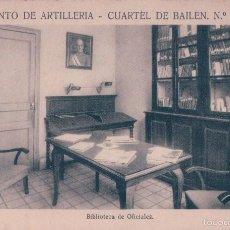 Postales: REGIMIENTO DE ARTILLERIA , CUARTEL DE BAILEN Nº 44 BARCELONA , BIBLIOTECA DE OFICIALES - ORIGINAL. Lote 57417078