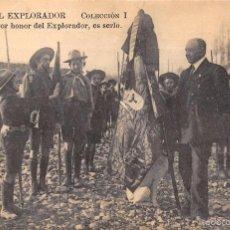 Postales: CÓDIGO DEL EXPLORADOR.-COLECCION I.- XII EL MAYOR HONOR DEL EXPLORADOR, ES SERLO.. Lote 57507234