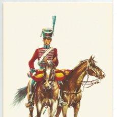 Postales: EJERCITO ESPAÑOL .- AÑO 1800 .- CAZADOR GUARDIA HONOR GENERALISIMO PRINCIPE DE LA PAZ . Lote 57575973