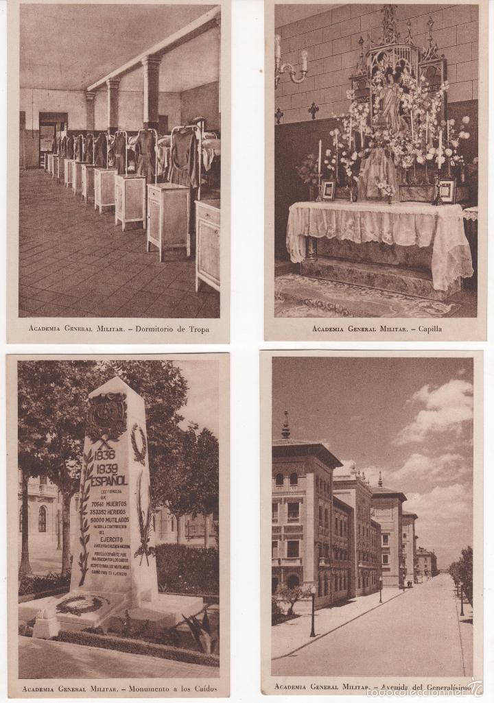 Postales: Lote de 21 Postales de Academia General Militar. Perfecto estado. Ver fotos - Foto 5 - 57851287
