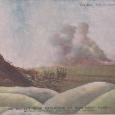 Postales: P- POSTAL BRITISH MINE EXPLODING AT BEAUMONT HAMEL. INGLESA, DAILY MAIL OFFICIAL WAR PICTURES.. Lote 57864827