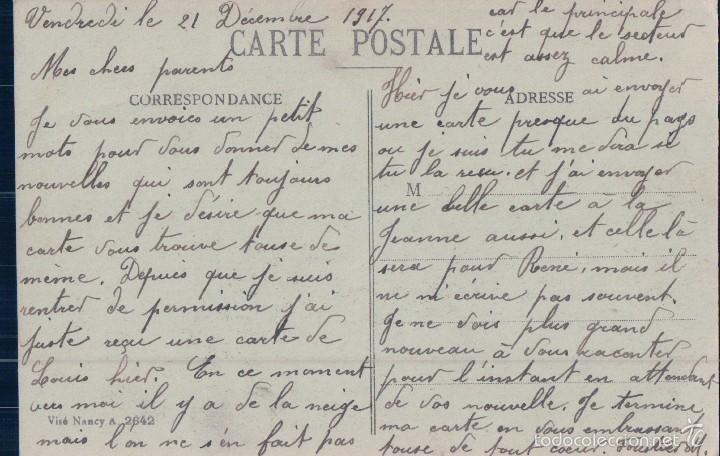 Postales: POSTAL SOLDADOS MILITARES AMETRALLANDO CONTRA AVIONES. ESCRITA AL REVERSO. FRANCESA - Foto 2 - 58015116